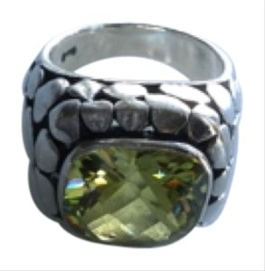 Sterling peridot statement ring