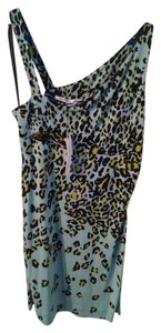 Diane von Furstenberg short dress multi- light blue, black, yellow on Tradesy