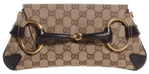 Gucci Monogram Brown Clutch