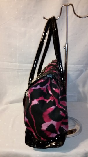 Betseyville Satchel in Black and Pink