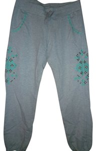 Lucky Brand Embroidered Relaxed Pants charcoal Gray