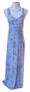 Blue/White stripes Maxi Dress by Just Love