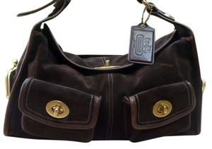 Coach Suede Archival Bleecker Shoulder Bag