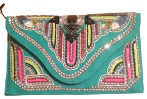 Nila Anthony Turquoise/ Multi Beads Clutch