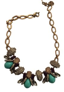J.Crew J Crew Turquoise/ Multi Color Statement Necklace