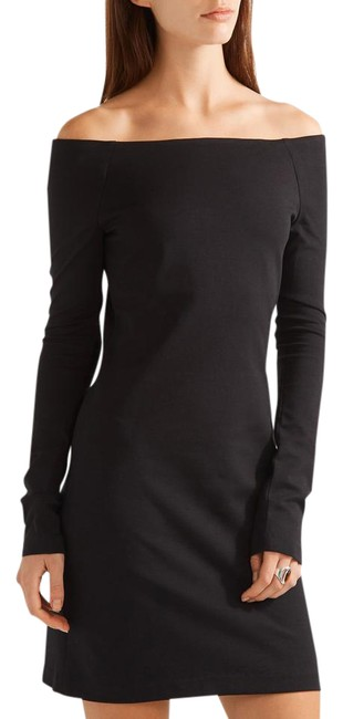 Preload https://item5.tradesy.com/images/the-row-black-hunting-off-shoulder-bateau-boatneck-long-sleeve-short-casual-dress-size-0-xs-10574689-0-4.jpg?width=400&height=650