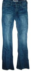 1921 Jeans Flare Leg Jeans-Distressed