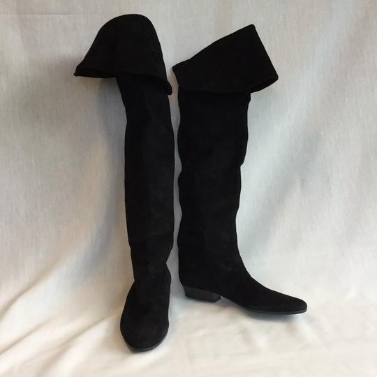 Italian black suede over the knee boots Black suede Boots