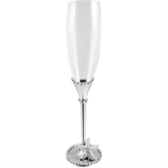 Preload https://item5.tradesy.com/images/silver-and-swarovski-clear-crystals-bradley-starfish-bridal-champagne-glasses-fine-china-10575814-0-0.jpg?width=440&height=440