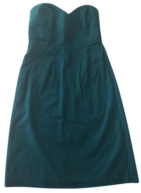 Preload https://item4.tradesy.com/images/forever-21-sweetheart-fitted-strapless-dress-teal-1057603-0-0.jpg?width=400&height=650