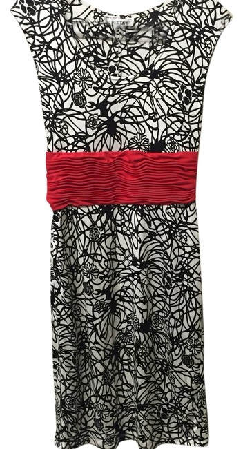 Preload https://item5.tradesy.com/images/chetta-b-by-sherrie-bloom-and-peter-noviello-black-white-red-na-knee-length-night-out-dress-size-10--10576534-0-2.jpg?width=400&height=650