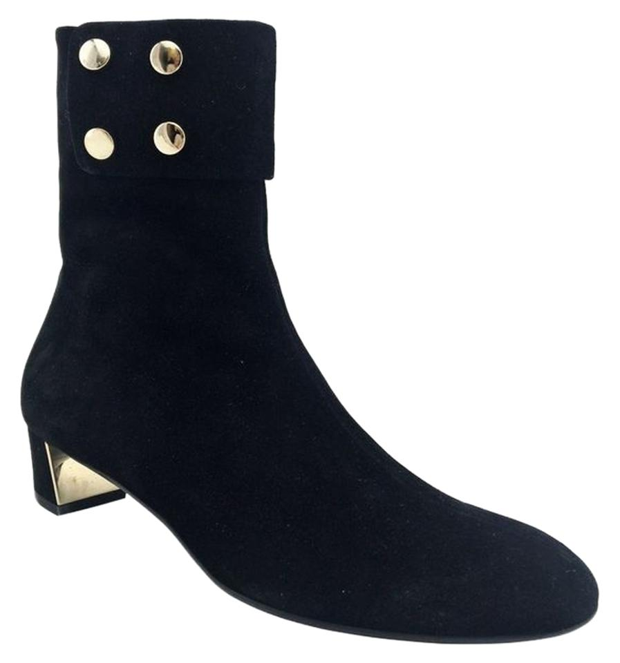 7dd7136b5 Gucci Black Suede Studded Ankle Boots/Booties Size US 9.5 Regular (M ...