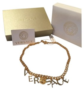 Versace Letter Charm Necklace