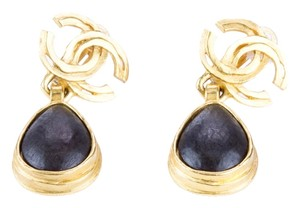 Chanel Chanel 97A Teardrop Logo Earrings Clip On