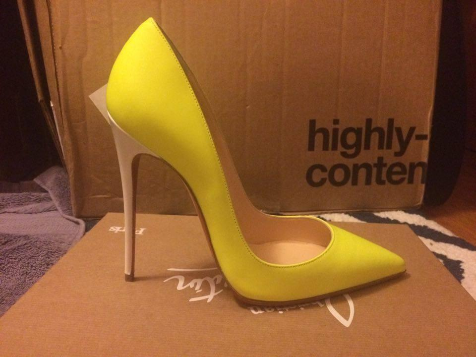 9449b072aa5 Christian Louboutin Neon Yellow Box 120mm New In So Kate Matte 36 Pumps  Size US 6