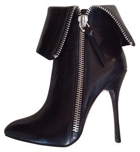Jean-Michel Cazabat Leather Zipper Black Boots