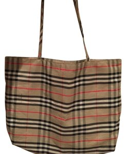 Burberry London Tote in Classic Plaid