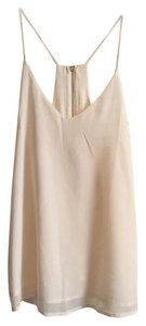 Romwe Tank Zipper Cami Top Cream