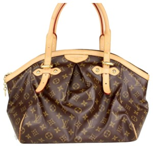Louis Vuitton Tivoli Handbags Lv Designer Speedy Neverfull Saleya Palermo Keepall Monogram Lv Dust Lv Lv Handbag Gm Mm Tivoli Gm Tote in Brown