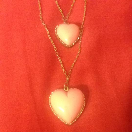 Betsey Johnson Layered Heart Necklace