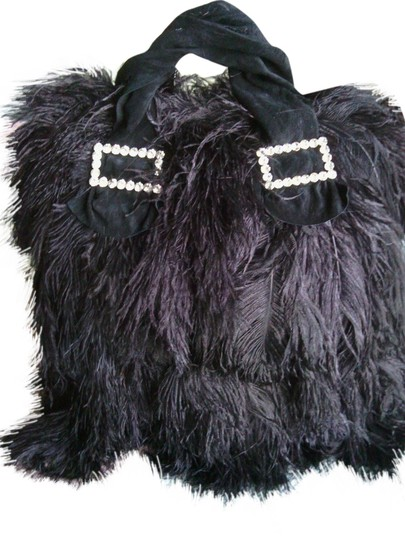 Other Ostrich Glamour Sexy Oversized Tote in Black