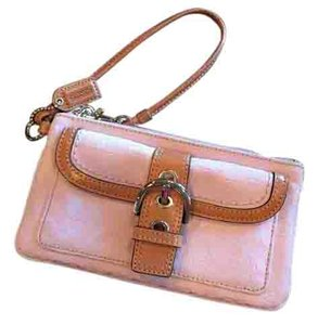 Coach Vintage Lilac and Tan Clutch