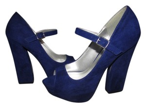 Qupid royal blue Pumps