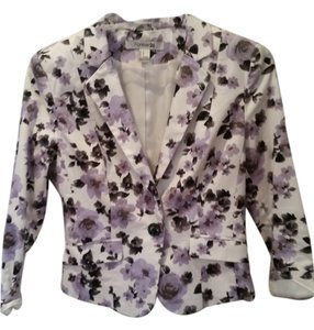 Forever 21 80's Cropped Jacket Office Floral Blazer