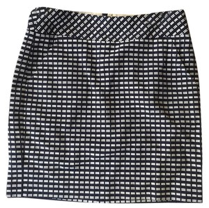 Trina Turk Skirt Navy and white