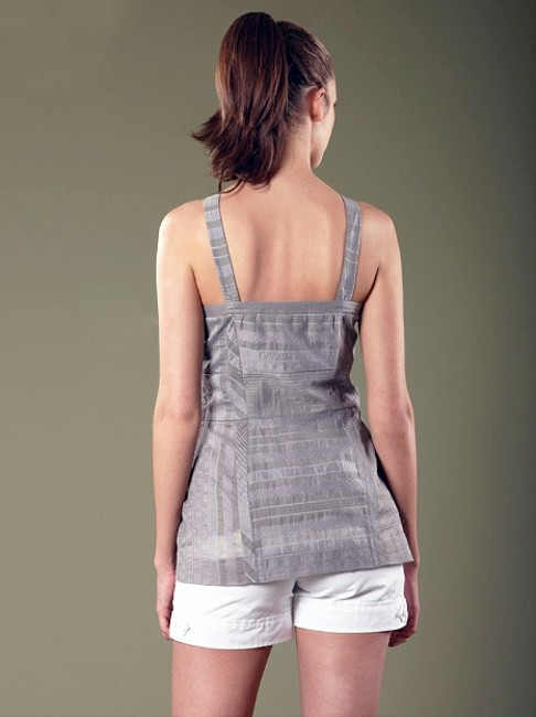 W118 by Walter Baker Cotton Silk V-neck Sleeveless Night Out Date Night Top Grey