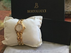 Bertolucci Ladies Pulchra 18K Gold Diamond Bezel Watch