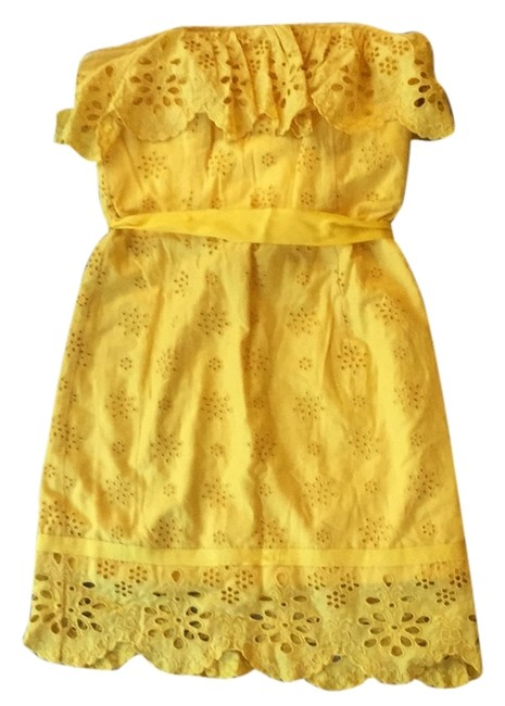 Preload https://item2.tradesy.com/images/milly-yellow-above-knee-cocktail-dress-size-0-xs-10579756-0-1.jpg?width=400&height=650