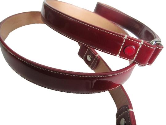 Coach Coach Dog Leash (FAST SHIPPING!) Red Patent Leather Grommets SZ Large