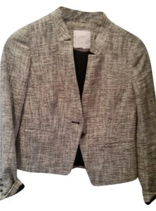 Ann Taylor LOFT Linen Jacket Coat Suiting Suit Sand Blazer