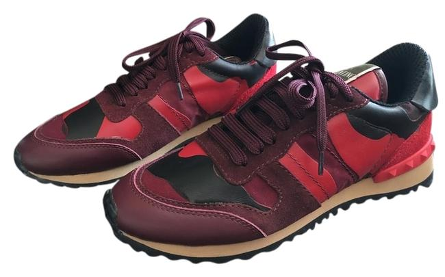 Item - Red Rockstud Multi-color Camouflage Fashion Sneakers Size US 7 Regular (M, B)