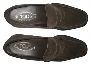 Tod's Slip Ons Loafers Tods Suede NEW Brown Flats