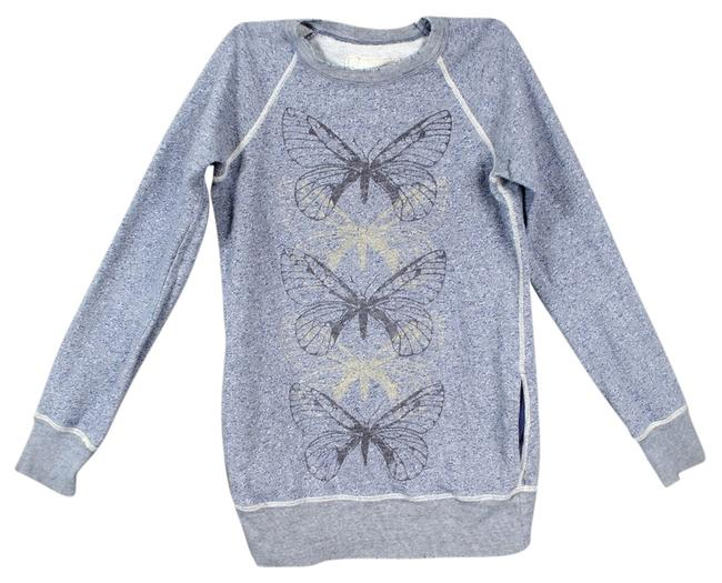 Preload https://item3.tradesy.com/images/free-people-bluegrey-sweat-shirt-butterflies-butterfly-print-cotton-distressed-sweaterpullover-size--10580347-0-1.jpg?width=400&height=650