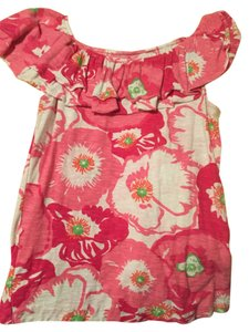 Lilly Pulitzer Top Pink, White