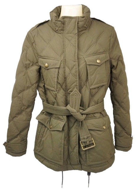 Preload https://item3.tradesy.com/images/burberry-brit-green-belted-down-puffyski-coat-size-4-s-10580437-0-1.jpg?width=400&height=650