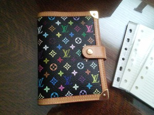 Louis Vuitton Authentic Louis Vuitton BLACK Multicolor Murakami PM Agenda