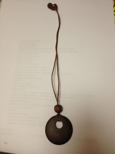 Banana Republic Banana Republic Dark Wood Necklace