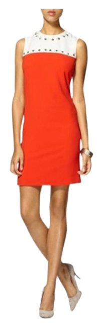 Preload https://img-static.tradesy.com/item/10581607/orange-white-above-knee-workoffice-dress-size-10-m-0-1-650-650.jpg