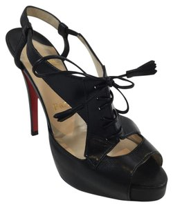 Christian Louboutin Sometimes Leather Black Sandals