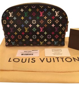 Louis Vuitton Louis Vuitton Black Multicolor Cosmetic Pochette