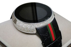 Gucci Mens I Gucci Digital White Diamond Watch 4 Ct Ya114207