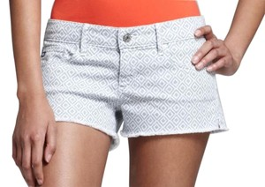 AG Adriano Goldschmied Summer Pattern Chevron Gray Mini/Short Shorts Grey and white