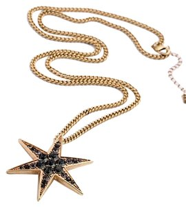 Star Black Stone Pendant Necklace