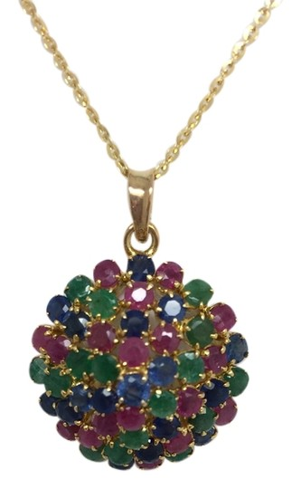 Preload https://item2.tradesy.com/images/14k-yellow-gold-muti-color-stones-pendant-necklace-10582891-0-1.jpg?width=440&height=440
