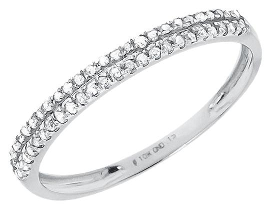Preload https://img-static.tradesy.com/item/10582975/jewelry-unlimited-10k-white-gold-ladies-round-2-row-diamond-wedding-fashion-band-015-ct-ring-0-1-540-540.jpg
