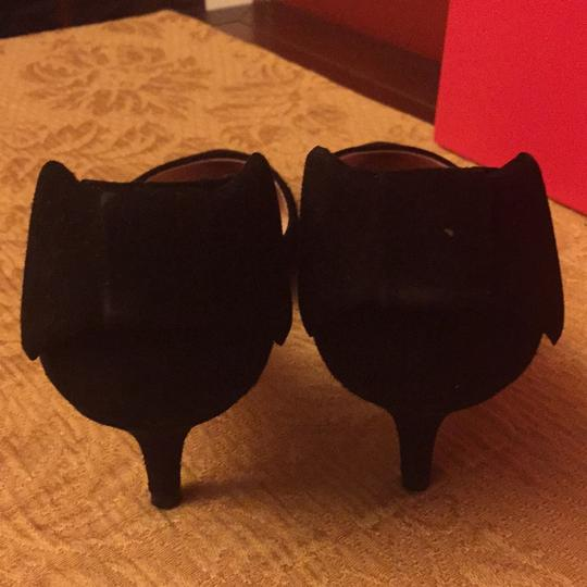Kate Spade Suede Kitten Heel black Pumps